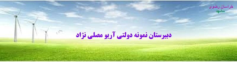لوگوی دبیرستان نمونه دولتی آریو مصلی نژاد